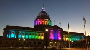 sf city hall lights san francisco city hall rainbow lights pride week 2017 timelapse