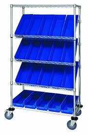 5 Shelf Wire Shelving Quantum Storage Systems Wrcsl5 63 1836 104bl 5 Tier Slanted Wire