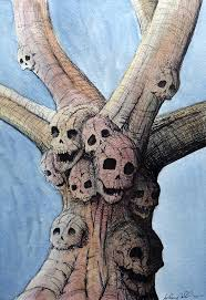 skull tree painting by anthony nold