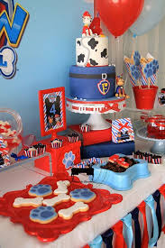 paw patrol candy table ideas paw patrol 4th birthday party little wish parties