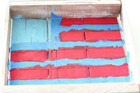 Faded American Flag Rustic Painted American Flag Honeybear Lane