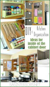 How To Organize A Kitchen Cabinets How To Organize Inside Kitchen Cabinet Doors Diy Cozy Home