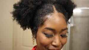 natural hair cute mini buns on natural hair plus update