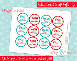 christmas soap gift tag diy printable christmas tag