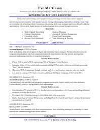resume sles for advertising account executive description jd templates digital marketing resume exle cover letter