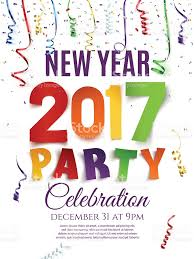 new year 2017 party poster template stock vector art 613343730