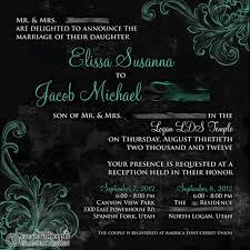 Lds Wedding Invitations Kara U0027s Koncepts Graphic Design Custom Wedding Invitations