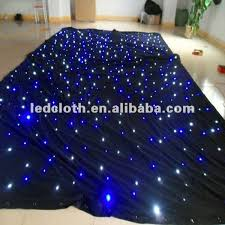 How To Make A Stage Curtain Starry Sky Cloth Led Star Backdrop Wedding Cloth Led Curtain