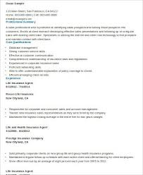 sample insurance resumes insurance underwriter insurance sales