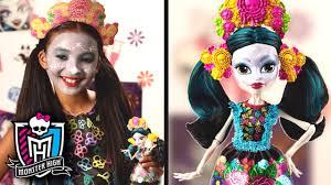 monster high skelita halloween costume paint your face like monster high skelita calaveras monster