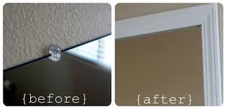 bathroom mirror trim ideas frame your bathroom mirror plastic somewhat simple