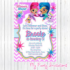 free shimmer and shine invitations invitation design birthdays
