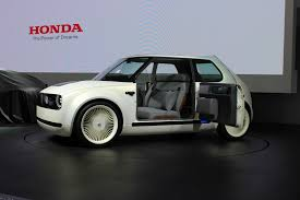honda previews new convertible sports honda u0027s retro futuristic ev garage completed at tokyo motor show