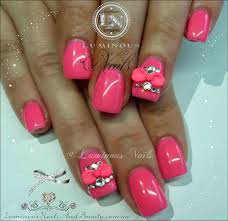 nails designs with 3d bows rajawali racing