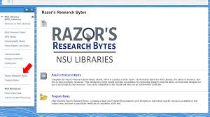 online tutorial library razor s research bytes online library tutorial sharkwrites