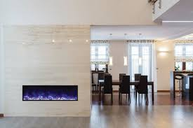 slim electric fireplace interior design