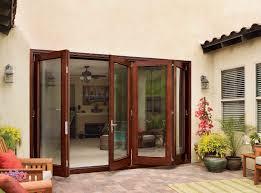Folding Exterior Patio Doors by House Exterior Design With White Frame Bi Folding Glass Door