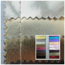 Leather Fabric For Sofa Metallic Luster Style Leather Fabric Pvc Synthetic Leather Textile