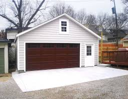 Backyard Garage Ideas Customized Overhangs Make This Garage A One Of A Kind Addition To