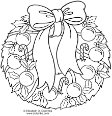 christmas wreath coloring pages u2013 happy holidays