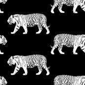 white tiger fabric wallpaper gift wrap spoonflower
