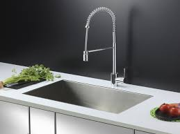 Chrome Kitchen Sink Ruvati Rvc2601 Stainless Steel Kitchen Sink And Chrome Faucet Set