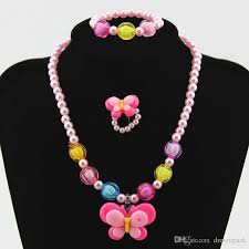 pink coloured beads necklace images Candy colour beads girl kids duck party princess jewelry necklace jpg