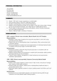 Best Resume Format New Graduates by Free Example And Nursing Clinical Experience Nursing Examples Of