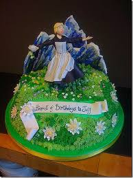 wonderful sound of music birthday cake between the pages