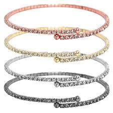rose gold crystal bangle bracelet images Jest jewels thin pave rhinestone rose gold bracelet jpg