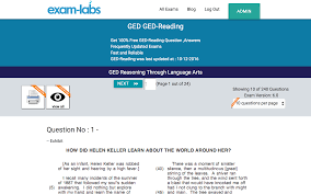ged reading ged real exam questions 100 free exam labs