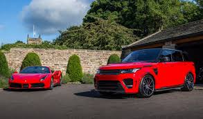 customized range rover 2017 overfinch supersport and matching ferrari 488 spider