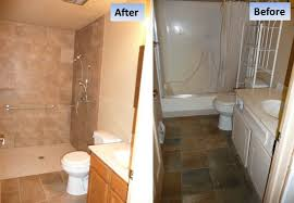 How To Convert A Bathtub To A Walk In Shower Bathroom And Showers Curbless Shower Tub Conversion For A Handicap