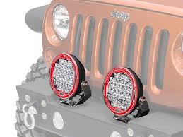 round led lights for jeep arb wrangler intensity 9 5 in round 32 led light spot beam ar32s