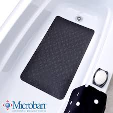 mildew resistant large rubber safety bath mat with suction cups