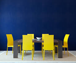 yellow color decorations blue and yellow scandinavian color scheme in dining