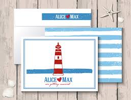 lighthouse wedding invitation cards card card vector free vector