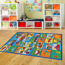 Abc Area Rugs Amazon Com Kids Rug Abc Transportation Area Rug 5 U0027 X 7