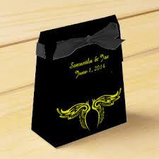 Yellow Decorative Box Black And Yellow Favor Boxes Zazzle