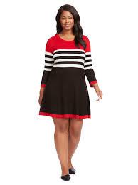 sweater dress howard stripe fit flare sweater dress gwynnie bee
