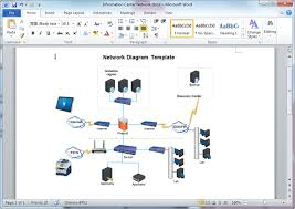 network diagram templates for word