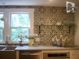 Amazing Cement Tile Backsplash Gallery Home Decorating Ideas And - Cement tile backsplash