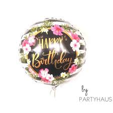 30th birthday flowers and balloons hibiscus balloons 18 happy birthday flower balloons 30th birthday