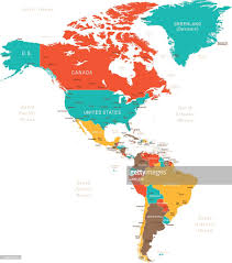 Biome Map Coloring Free Colored Map Of North And South America Vector Art Getty