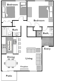 2 bedroom condo floor plans floor plan mammoth condo rental horizons4