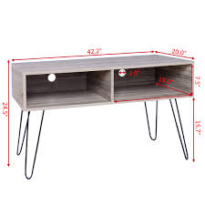 hair pin legs costway rakuten costway tv stand wood media console