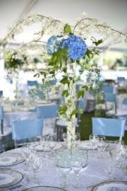 Blue Wedding Centerpieces by Friday Flowers Blue Hydrangea Hydrangea Hydrangea Wedding