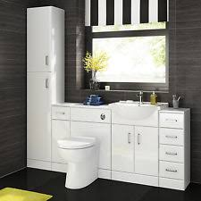 Bathroom Vanity Unit Home Furniture  DIY EBay - Bathroom sink and cabinets