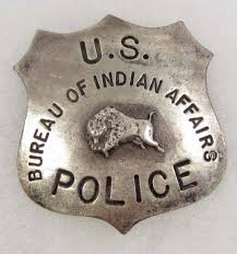 us bureau of us bureau of indian affairs cowboy era badge