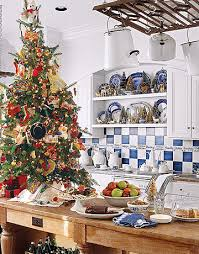Kitchen Christmas Tree Ideas | christmas decorations with vintage tea trap classic holiday decor